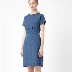 COS Wide Neck Denim Dress 4